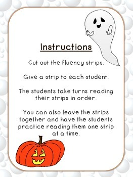 Halloween Fluency Pyramids FREEBIE