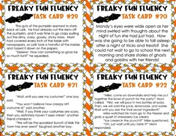 Halloween Fluency Task Cards #BasketBargains