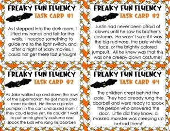 Halloween Fluency Task Cards