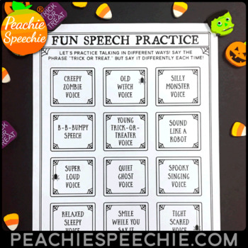 Halloween Fluency Therapy Activities