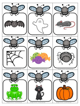 Halloween Flyswatter Vocabulary Game