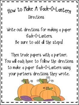 Halloween Follow Directions {Jack-O-Lantern}