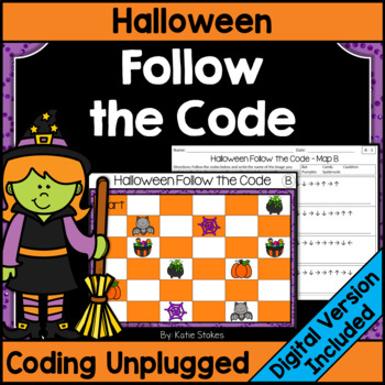 Halloween Follow the Code (Coding Unplugged)