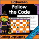 Halloween Coding Unplugged - Follow the Code | Printable &