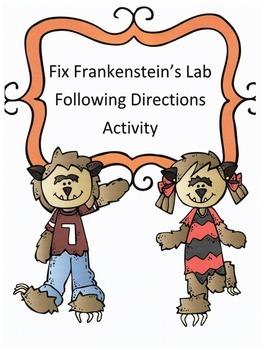 Halloween Following Directions Activity: Have Kids Fix Frankenstein's Lab