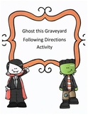 Halloween Following Directions Activity: Have Kids Ghost this Graveyard