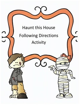 Halloween Following Directions Activity: Have Kids Haunt this House