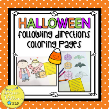 Halloween Following Directions Coloring Packet