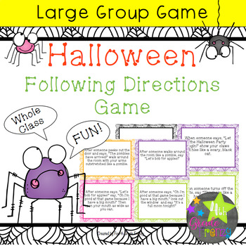 Halloween Following Directions Game