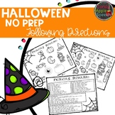 Halloween Following Directions Pack