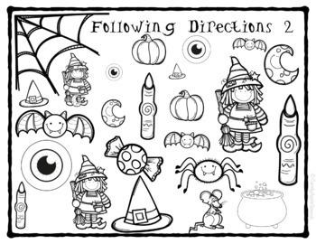 Halloween No Prep Following Directions