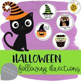 Halloween Following Directions & Reinforcement Activity