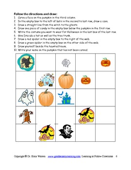 halloween following directions the fun and easy way activities - Halloween Following Directions