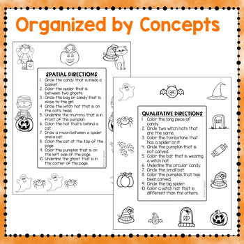 halloween following directions worksheets by fun in speech tpt. Black Bedroom Furniture Sets. Home Design Ideas