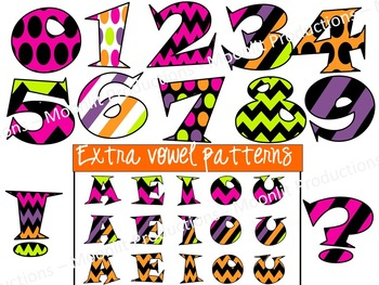 Halloween Font - Bright Font - Funky Font - Personal & Commercial use