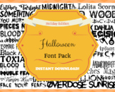 Halloween Font Pack Themed Computer .TTF Font Pack - 34 Styles, 39 total fonts!