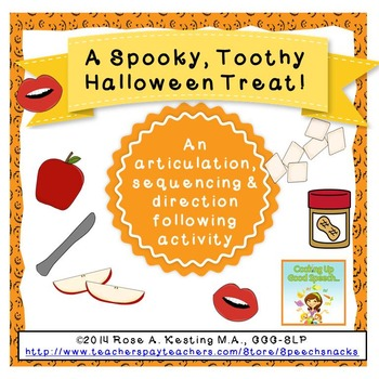 A Spooky, Toothy Halloween Treat--Speech & Language Activity