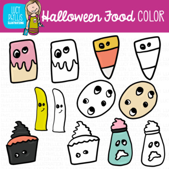 Halloween Food Clip Art (Lucy Phyllis Illustrations)
