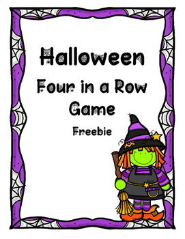 Halloween Four in a Row Game Freebie
