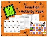 Math Centers Fraction Activity Pack Halloween