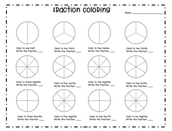 Math Centers Fraction Activity Pack Halloween