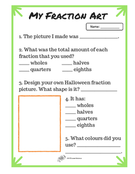 Halloween Fraction Art
