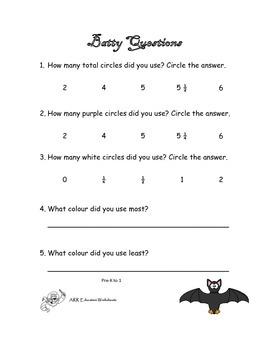 Halloween Fraction Art Bat