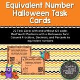 Halloween Fraction Decimal Percent Equivalent Number Task