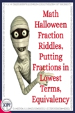 Halloween Fraction Riddles: Identifying Fractional Parts in Lowest Terms