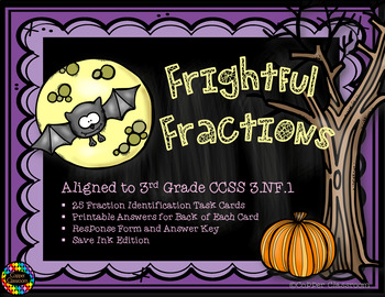 Halloween Fraction Task Cards