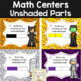 Halloween Fraction Task Cards: Identifying Fractions Shaded and Unshaded Parts