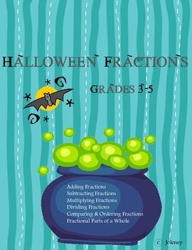 Halloween Fractions Bundle Grade 5