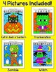 Halloween Math Fractions Color by Code Bundle - Differentiated Math Center