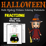 Operations With Fractions Coloring Sheet, Halloween 5th Grade Worksheets