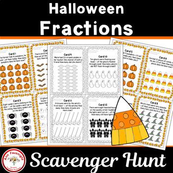Halloween Fractions Scavenger Hunt
