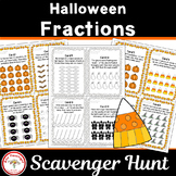 Halloween Fractions Scavenger Hunt