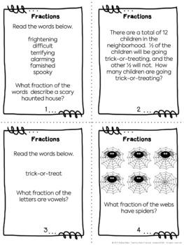 Halloween Fractions: Task Cards