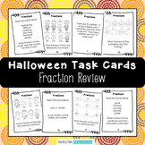 Halloween Fractions Activity - Task Cards for Halloween Scoot