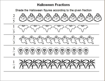 Free 6th grade halloween worksheets resources lesson plans halloween fractions worksheet halloween fractions worksheet ccuart Gallery