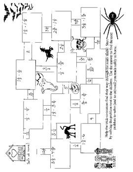 Halloween Fractions (bundle)