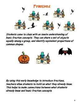 Halloween Introduction to Fractions