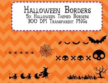Halloween Frame Borders 5 different designs