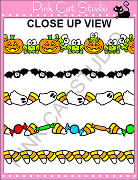 Borders - Halloween Frames / Borders Clip Art Set - Personal or Commercial Use