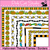 Halloween Frames / Borders Clip Art Set - Page Borders and Frames