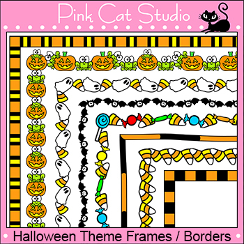Borders - Halloween Frames / Borders Clip Art Set - Person
