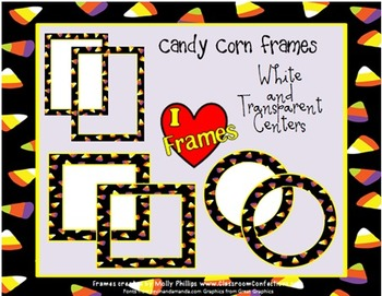 Halloween Frames/Borders {Commercial Use Candy Corn Clip Art Frames}