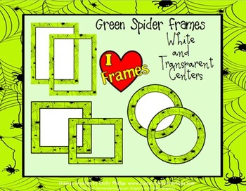 Halloween Borders {Commercial Use-Green Spider}