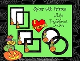 Halloween Frames {Commercial Use-Spider Web and Pumpkins}