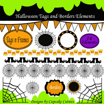 Halloween Frames and Borders Digital Clip art set