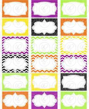 Halloween Frames and Labels Digital Borders Clipart by Poppydreamz